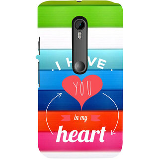 ifasho I have you in my heart Back Case Cover for Moto X Force