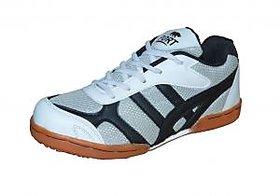 Port Men's  Harnet  Grey PU  Badminton Shoes