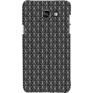 ifasho Animated Pattern black and white butterfly Back Case Cover for Samsung Galaxy A7 A710 (2016 Edition)