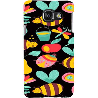 ifasho Animated Pattern colrful flower and butterfly Back Case Cover for Samsung Galaxy A3 A310 (2016 Edition)