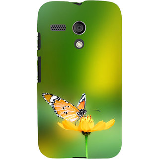 ifasho Butterfly sitting on flower Back Case Cover for Moto G