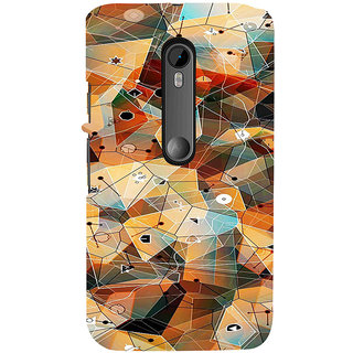 ifasho Modern Theme of royal design in colorful pattern Back Case Cover for Moto X Force