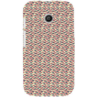 ifasho Modern Art Design Pattern Lot of fish Back Case Cover for MOTO E
