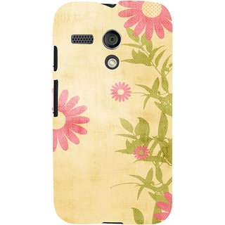 ifasho Animated Pattern colrful 3Daditional design cloth pattern Back Case Cover for Moto G
