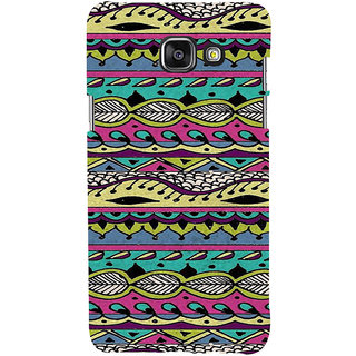 ifasho Modern Art Design Pattern lot of Leaf Back Case Cover for Samsung Galaxy A7 A710 (2016 Edition)