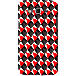 ifasho Colour Full 3Diangle inside Square Pattern Back Case Cover for Samsung Galaxy Grand