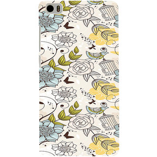 ifasho Animated Pattern colrful design flower and cage and birds Back Case Cover for Redmi Mi5