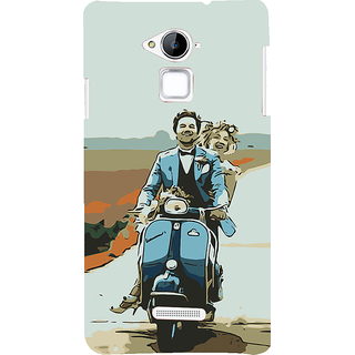ifasho husband and wife happy drive in scooter Back Case Cover for Coolpad Note 3