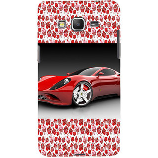 ifasho Stylish RED Car Back Case Cover for Samsung Galaxy Grand Prime