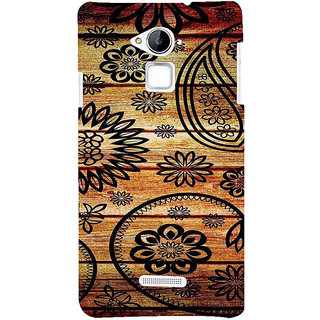 ifasho Animated Royal Pattern with Wooden back ground Back Case Cover for Coolpad Note 3
