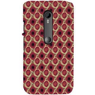 ifasho Animated Pattern design flower with leaves Back Case Cover for Moto X Force