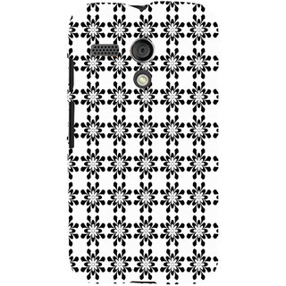 ifasho Animated Pattern design black and white flower in royal style Back Case Cover for Moto G