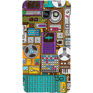 ifasho Animated Pattern design music recording cartoons tape  Back Case Cover for Samsung Galaxy A7 A710 (2016 Edition)
