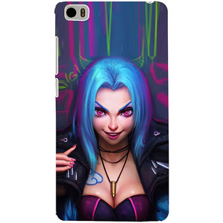 ifasho Blue hair Girl smiling Back Case Cover for Redmi Mi5