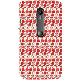 ifasho Animated Pattern design many small apple Back Case Cover for Moto X Force