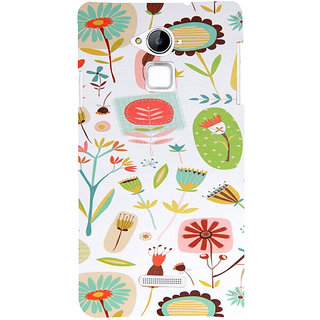 ifasho Animated Pattern colrful flower with leaves Back Case Cover for Coolpad Note 3