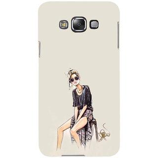 ifasho modern Girl painting Back Case Cover for Samsung Galaxy E7