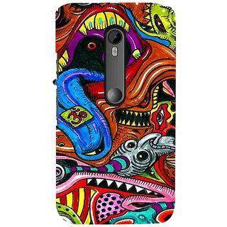 ifasho Modern Art Om design pattern Back Case Cover for Moto X Force