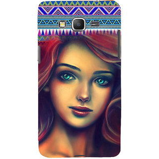 ifasho Gorgeous Winking Girl Back Case Cover for Samsung Galaxy Grand Prime