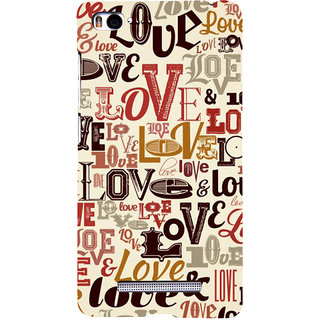 ifasho Love pattern Back Case Cover for Redmi Mi4i