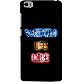 ifasho Wisdom life love designed quote Back Case Cover for Redmi Mi5