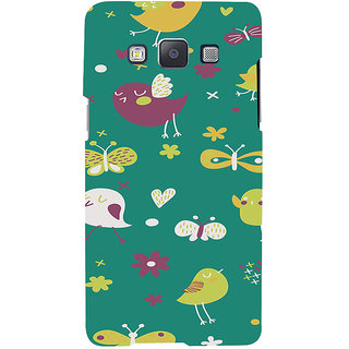 ifasho Animated Pattern birds and butterfly Back Case Cover for Samsung Galaxy A7