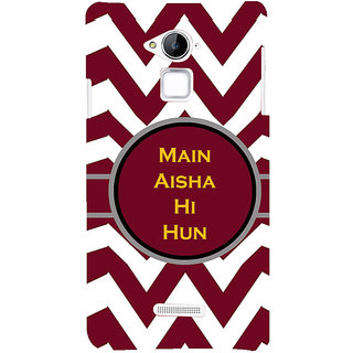ifasho Main Aisha hi hun in quote in arrows Back Case Cover for Coolpad Note 3