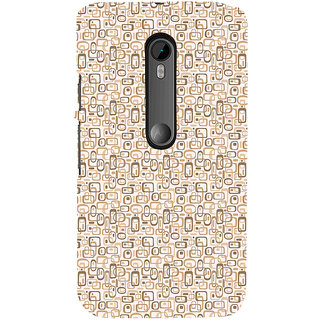 ifasho single color rectangle and circle and dots Pattern Back Case Cover for Moto X Force