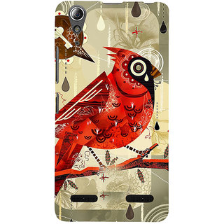 ifasho Animated Pattern birds and flowers Back Case Cover for Lenovo A6000