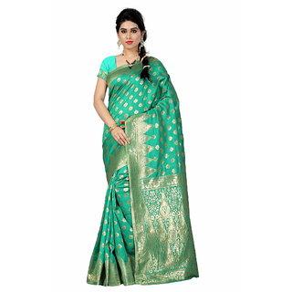 Inheart Multi Zari Tussar Silk Saree
