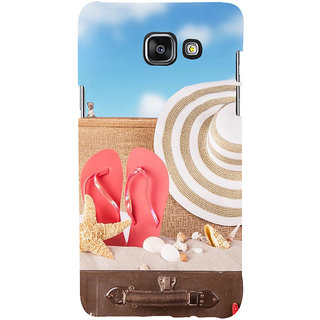 ifasho hat and chappal at a boat in Beach  Back Case Cover for Samsung Galaxy A7 A710 (2016 Edition)