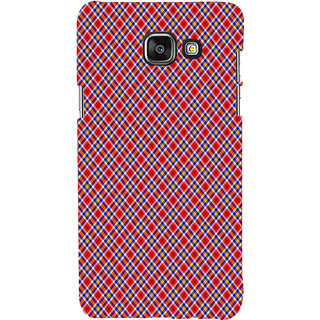 ifasho Colour Full Square Pattern Back Case Cover for Samsung Galaxy A7 A710 (2016 Edition)