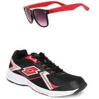 Lotto Vector Black And Red Sport Running Shoes F5R4263-3620 - 100550161