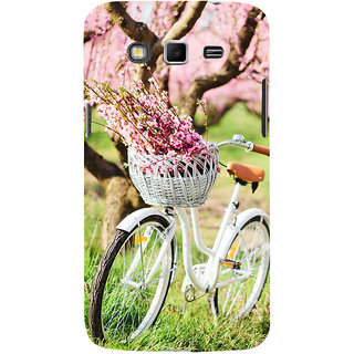 ifasho Cycle in a park with flowers and grass Back Case Cover for Samsung Galaxy Grand