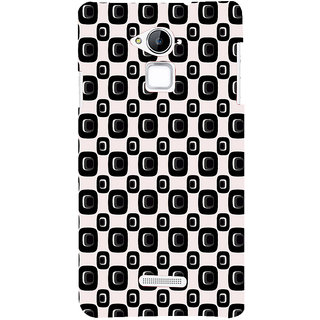 ifasho Modern Theme of black and white Squre and dots pattern Back Case Cover for Coolpad Note 3