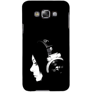 ifasho Girl with headphone Back Case Cover for Samsung Galaxy E7