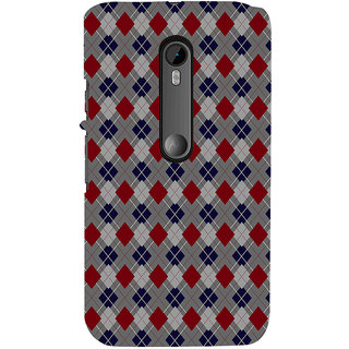 ifasho Animated Pattern design colorful in royal style Back Case Cover for Moto X Force