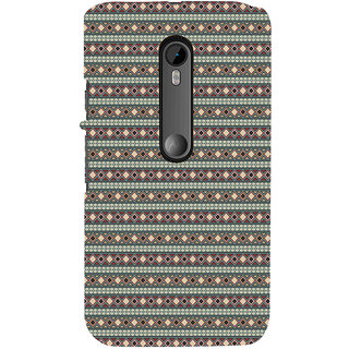 ifasho Animated Pattern colrful 3Dibal design rajasthani style Back Case Cover for Moto X Force