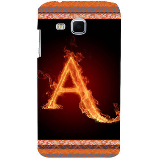 ifasho alphabet name series A Back Case Cover for Samsung Galaxy J3