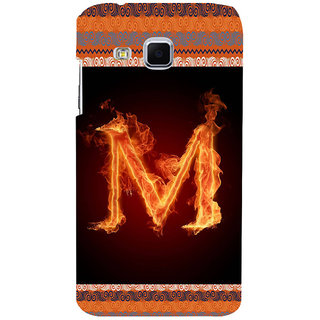 ifasho alphabet name series M Back Case Cover for Samsung Galaxy J3