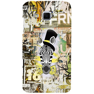 ifasho Animated Pattern of zebra Print Back Case Cover for Samsung Galaxy J3
