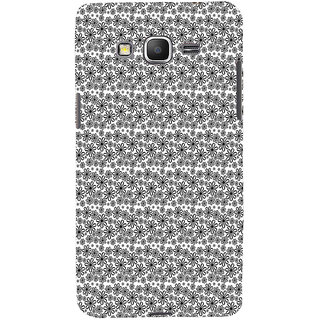 ifasho Animated Pattern black and white flower Back Case Cover for Samsung Galaxy Grand Prime