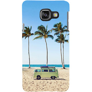 ifasho Bus on a beach Back Case Cover for Samsung Galaxy A3 A310 (2016 Edition)