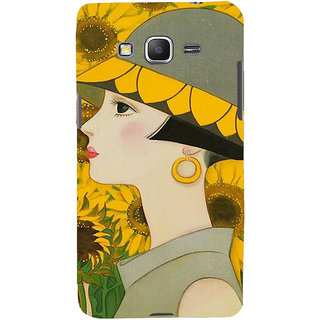 ifasho Painted Girl and flower Back Case Cover for Samsung Galaxy Grand Prime