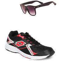 Lotto Vector Black And Red Sport Running Shoes F5R4263-3620 - 100551874