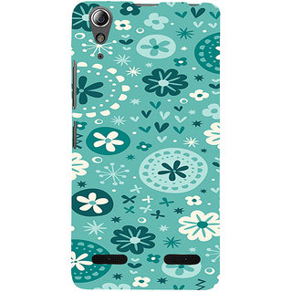 ifasho Modern Art Design animated cloth Pattern of flower Back Case Cover for Lenovo A6000 Plus