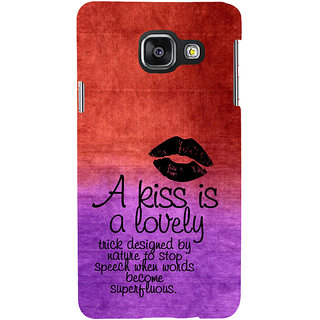 ifasho Kiss Quote Back Case Cover for Samsung Galaxy A3 A310 (2016 Edition)