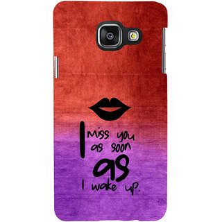ifasho Love in Heart Back Case Cover for Samsung Galaxy A3 A310 (2016 Edition)