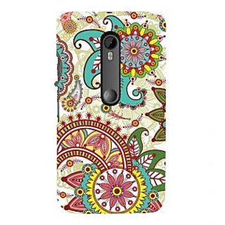 ifasho Animated Pattern colrful design flower with 3Daditional design Back Case Cover for Moto X Force