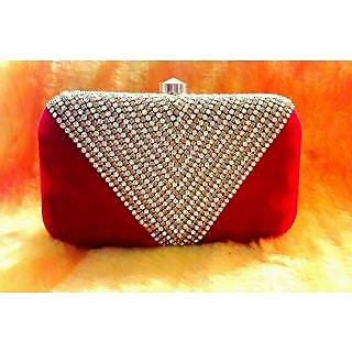 Handicraft Fashion Item Clutch For Womens (red)
